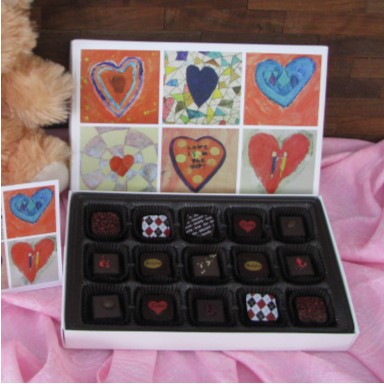 Bellafina Chocolates Young Artist Patchwork Hearts