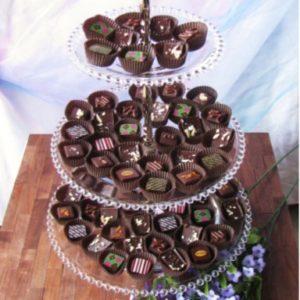 Bellafina Chocolates reception trays